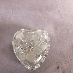 Vintage  heart crystal container